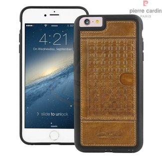 Pierre Cardin Pierre Cardin Backcover hoesje Bruin - Stijlvol - Leer - iPhone 6/6S Plus  - Luxe cover