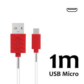 UNIQ Accessory Micro USB Kabel Rood 1m UNIQ Accessory 2.1A (8719273250549 )