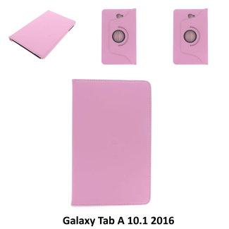 xlmobiel.nl SAMSUNG Galaxy Tab A 10.1 inch 2016 - T580 - Draaibare tablethoes Zwart voor bescherming van tablet - Roze
