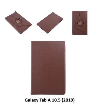 xlmobiel.nl Samsung Galaxy Tab A 10.5 (2018) (T590) Draaibare tablethoes D Bruin voor bescherming van tablet
