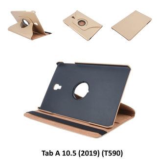 Samsung Galaxy Tab A 10.5 (2018) T590 360 graden  Draaibare tablethoes - Goud