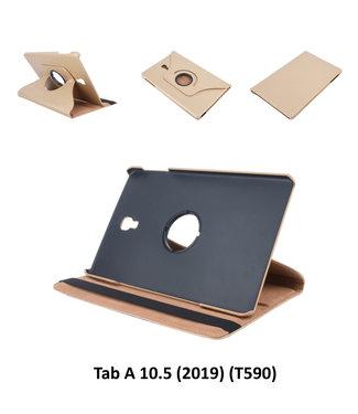 xlmobiel.nl Samsung Galaxy Tab A 10.5 (2018) T590 360 graden  Draaibare tablethoes - Goud