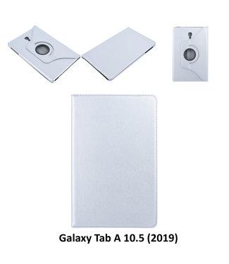 xlmobiel.nl Samsung Galaxy Tab A 10.5 (2018) (T590) Draaibare tablethoes Grijs voor bescherming van tablet