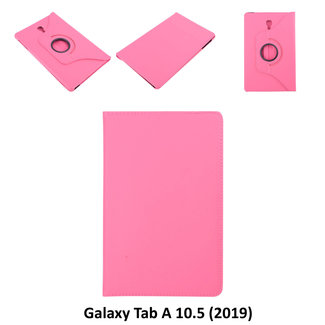 Samsung Galaxy Tab A 10.5 (2018) (T590) Draaibare tablethoes Hot Pink voor bescherming van tablet