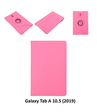 xlmobiel.nl Samsung Galaxy Tab A 10.5 (2018) (T590) Draaibare tablethoes Hot Pink voor bescherming van tablet