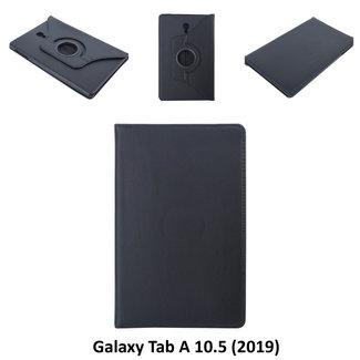 Samsung Galaxy Tab A 10.5 (2018) (T590) Draaibare tablethoes Zwart voor bescherming van tablet
