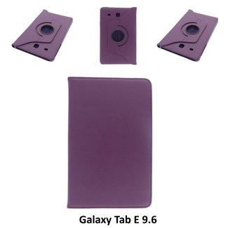 xlmobiel.nl Samsung Galaxy Tab E 9.6 Draaibare tablethoes Paars voor bescherming van tablet