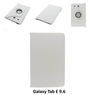 xlmobiel.nl Samsung Galaxy Tab E - 9.6 inch  - T560 - Draaibare tablethoes Wit voor bescherming van tablet
