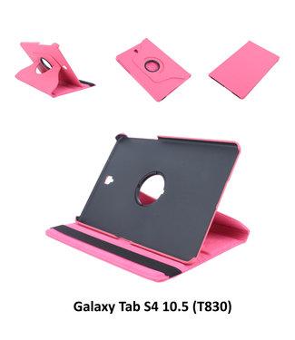 xlmobiel.nl Samsung Galaxy Tab S4 10.5 Draaibare tablethoes Hot Pink voor bescherming van tablet