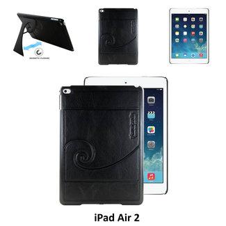 Pierre Cardin Apple iPad Air 2 Smart Tablethoes Zwart voor bescherming van tablet