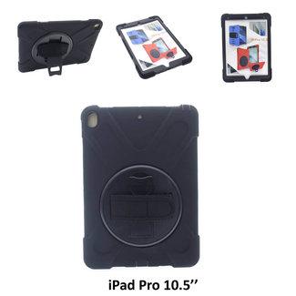 xlmobiel.nl Apple iPad Pro 10.5 (2018) Kids Proof Tablethoes Zwart voor bescherming van tablet