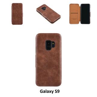 UNIQ Accessory Samsung Galaxy S9  Pasjeshouder Bruin Booktype hoesje - Magneetsluiting - Kunststof;TPU