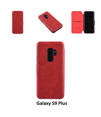 UNIQ Accessory Samsung Galaxy S9 Plus Pasjeshouder Rood Booktype hoesje - Magneetsluiting - Kunststof;TPU