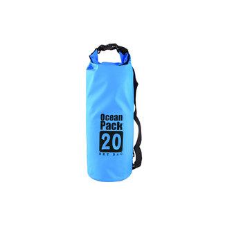 xlmobiel.nl Blauwe Droogzak - Dry Bag - waterdichte tas 20L