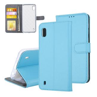 UNIQ Accessory Samsung Galaxy A10 (2019) Pasjeshouder Blauw Booktype hoesje - Magneetsluiting
