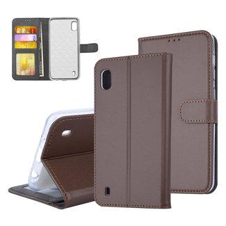 UNIQ Accessory Samsung Galaxy A10 (2019) Pasjeshouder Bruin Booktype hoesje - Magneetsluiting