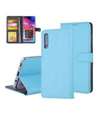 UNIQ Accessory Pasjeshouder Blauw Book Case voor Samsung Galaxy A70 -Magneetsluiting - Kunstleer