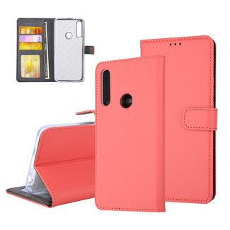 UNIQ Accessory Huawei  Y9 Prime (2019) Pasjeshouder Rood Booktype hoesje - Magneetsluiting