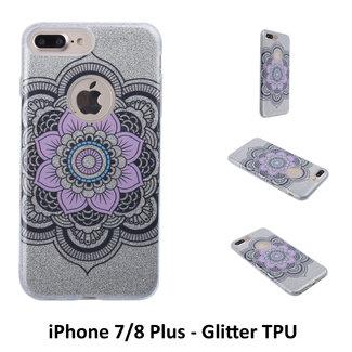 UNIQ Accessory Uniek motief Glitter flower TPU Achterkant voor Apple iPhone 7/8 Plus