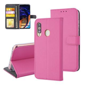 xlmobiel.nl Samsung Galaxy A60 Pasjeshouder Hot Pink Booktype hoesje - Magneetsluiting - Kunstleer; TPU