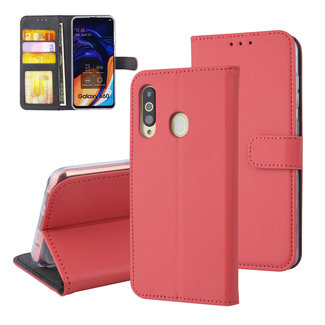 xlmobiel.nl Samsung Galaxy A60 Pasjeshouder Rood Booktype hoesje - Magneetsluiting - Kunstleer; TPU