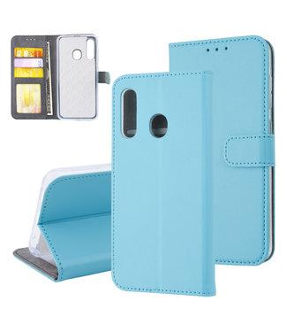 xlmobiel.nl Samsung Galaxy M40 Pasjeshouder L Blauw Booktype hoesje - Magneetsluiting - Kunstleer; TPU
