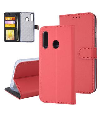 xlmobiel.nl Samsung Galaxy M40 Pasjeshouder Rood Booktype hoesje - Magneetsluiting - Kunstleer; TPU