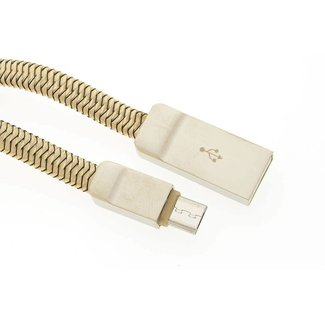 xlmobiel.nl Micro USB Kabel Goud 1m (8719273225974 )