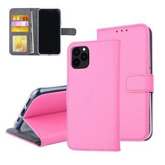 iPhone 11 Pro Hot Pink Pasjeshouder Booktype hoesje - Magneetsluiting - Kunstleer; TPU
