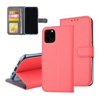 iPhone 11 Pro Rood Pasjeshouder Booktype hoesje - Magneetsluiting - Kunstleer; TPU