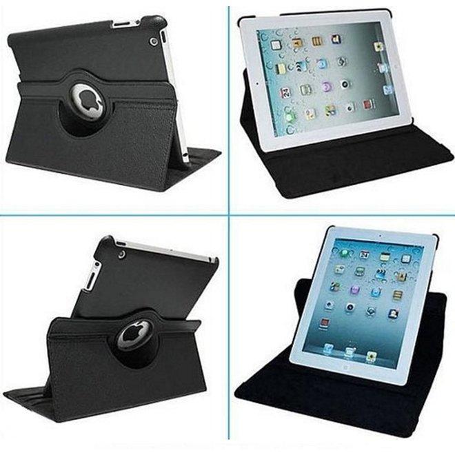 iPad Air Hoes Cover Multi-stand Case 360 graden draaibare Beschermhoes Zwart