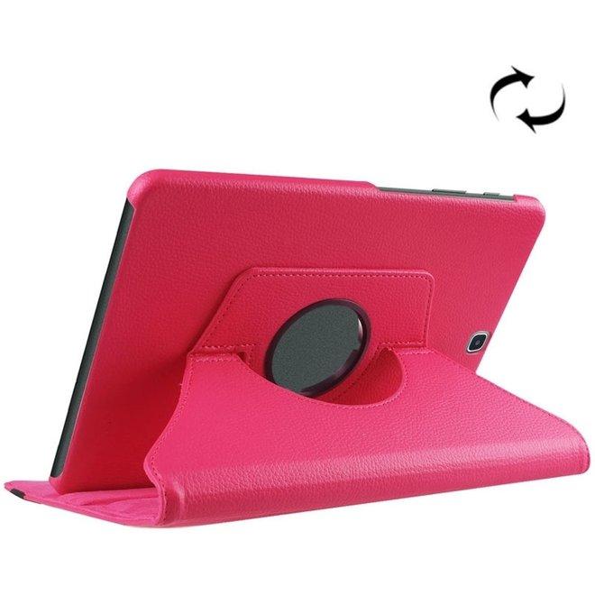 Samsung Galaxy Tab S2 9.7 / T815 horizontaal Litchi structuur PU leren Flip Hoesje met 360 graden draaiende houder (hard roze) (T815)