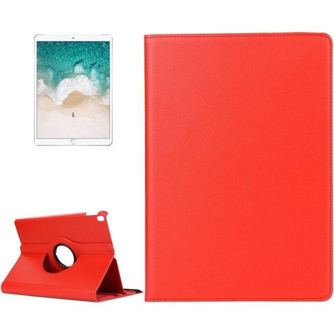 iPad Pro 10.5 inch horizontaal 360 graden draaiend Litchi structuur PU leren Flip Hoesje met houder (rood)
