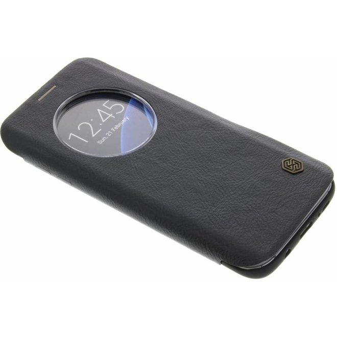 Nillkin - Samsung Galaxy S7 Edge Hoesje - Leather Case Qin Series Zwart
