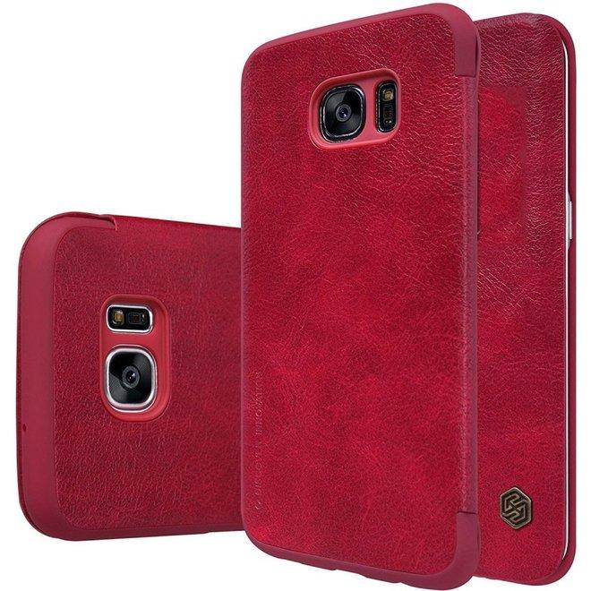 Nillkin - Samsung Galaxy S7 Edge Hoesje - Leather Case Qin Series Rood