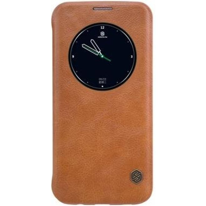 Nillkin - Samsung Galaxy S7 Edge Hoesje - Leather Case Qin Series Bruin