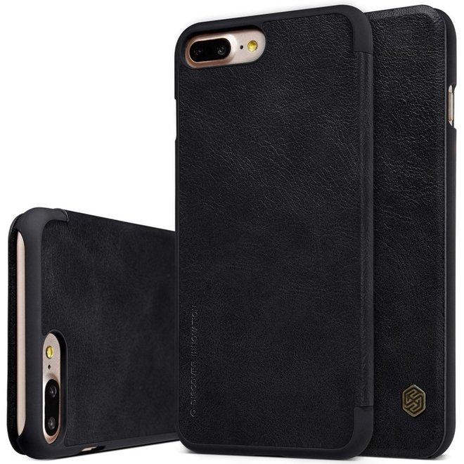 Nillkin Qin Series Leather Case Apple iPhone 7 Plus / 8 Plus - Zwart.