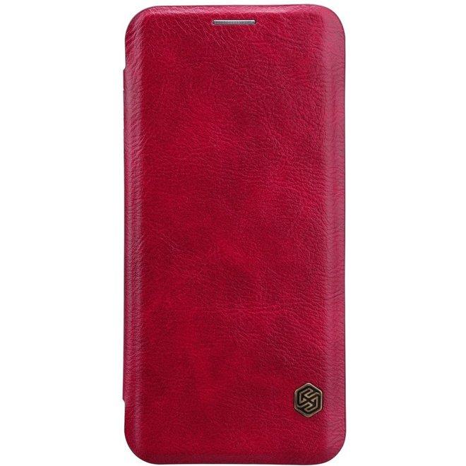Nillkin - Samsung Galaxy S8 Hoesje - Leather Case Qin Series Rood