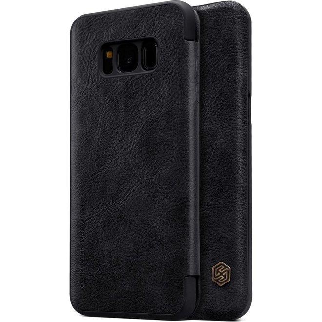 Nillkin Qin Series lederen boekmodel hoesje Samsung Galaxy S8 Plus - Zwart