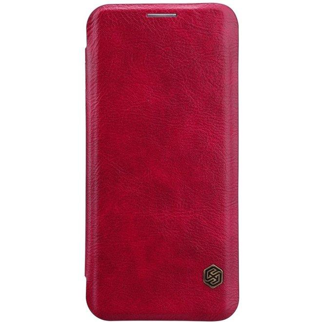 Nillkin - Samsung Galaxy S8 Plus Hoesje - Leather Case Qin Series Rood