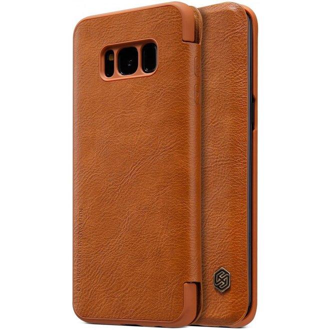 Nillkin Qin Series Flip Hoesje Samsung Galaxy S8 Plus Bruin
