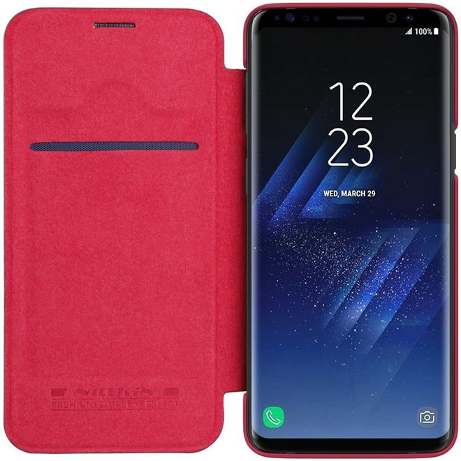 Nillkin Qin Samsung Galaxy S9 boekhoesje rood
