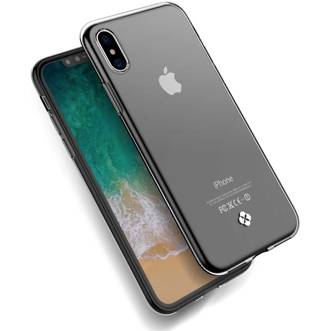 Let op type!! Transparant hoesje back cover voor iPhone X TPU zachte beschermende effect (transparant)
