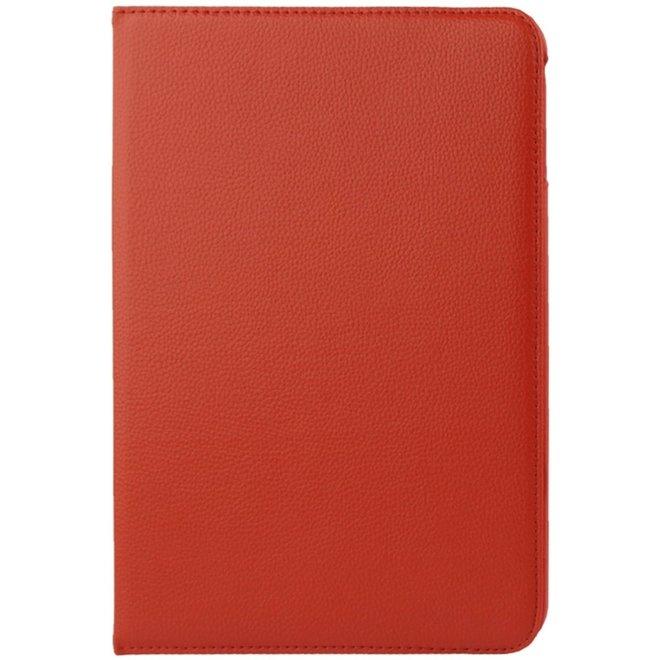 360 graden draaiend Litchi structuur lederen hoesje met houder voor Samsung Galaxy Tab 4 10.1 / SM-T530 (rood) (T530)