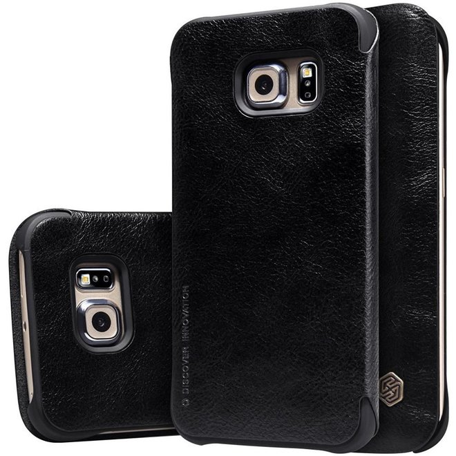 Nillkin - Qin Leather slim booktype hoes - Samsung Galaxy S6 Edge - zwart