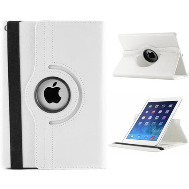 iPad Air 2  Hoes Cover 360 graden roteerbare hoes WIT