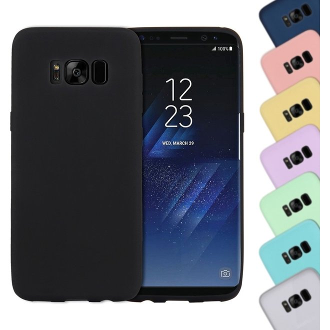 For Samsung Galaxy S8 Lovely Candy Colors Soft TPU beschermings hoesje (zwart) (G950)