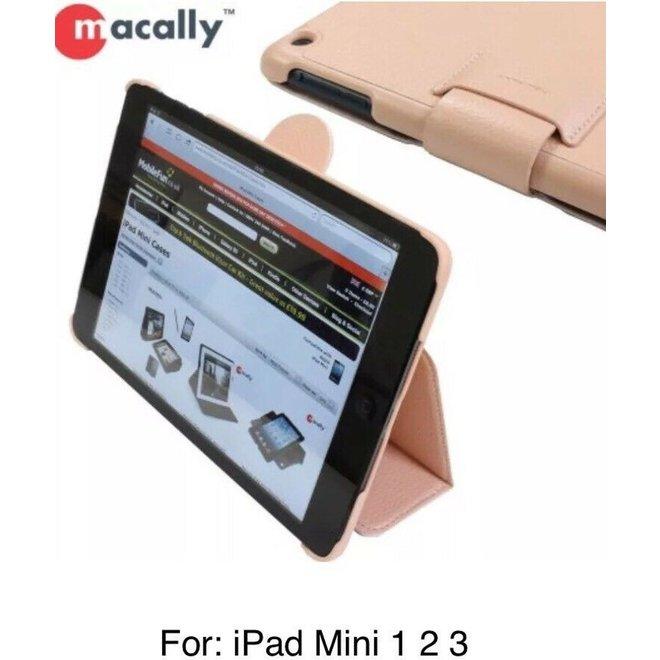 Macally BSTANDP-M1 tabletbehuizing voor Apple iPad Mini 1 2 3 - Roze - Licht roze Lederlook