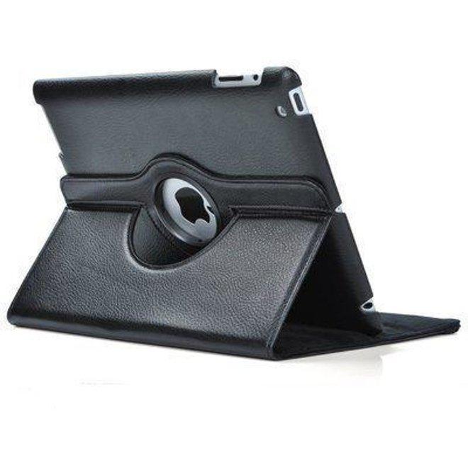Leren hoes draaibare cover iPad Air - Zwart