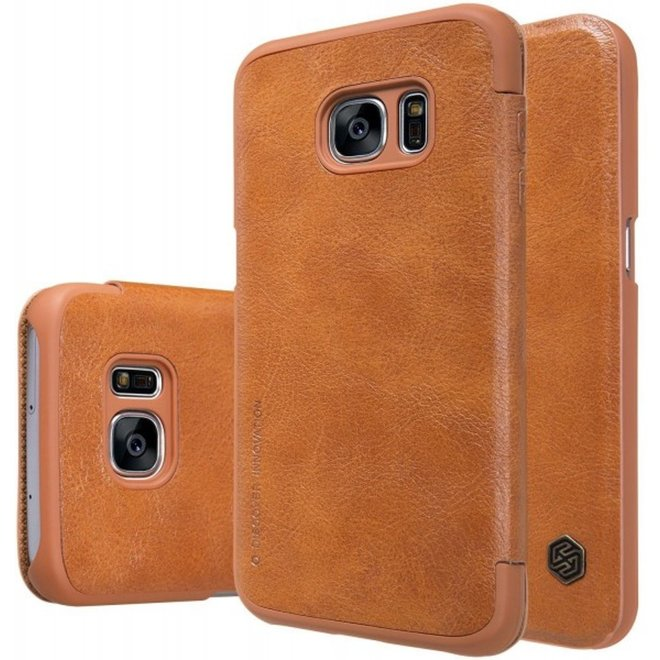 Nillkin Qin Series Lederen bookmodel Case Samsung Galaxy S7 - Bruin